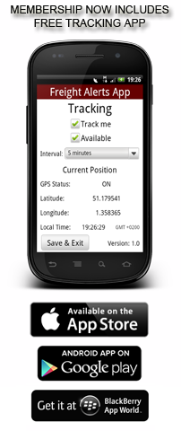 Freight Alerts Mobile App